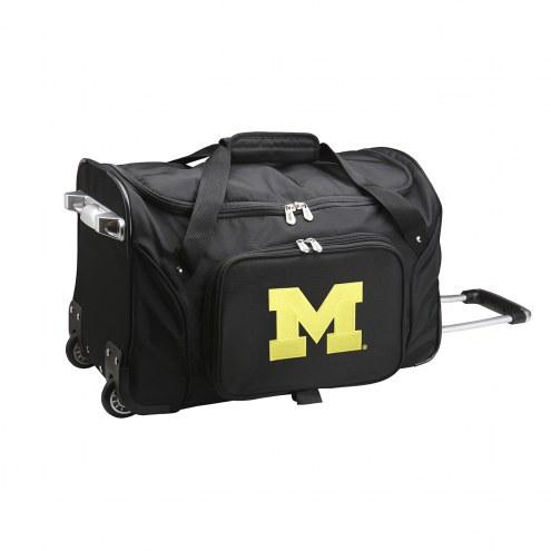"Michigan Wolverines 22"" Rolling Duffle Bag"