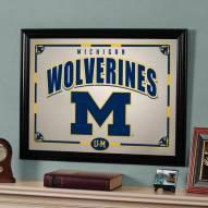 """Michigan Wolverines 23"""" x 18"""" Mirror"""