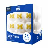 Michigan Wolverines 24 Count Ping Pong Balls