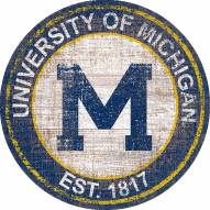 "Michigan Wolverines 24"" Heritage Logo Round Sign"