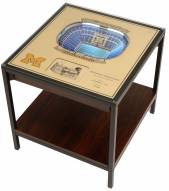 Michigan Wolverines 25-Layer StadiumViews Lighted End Table