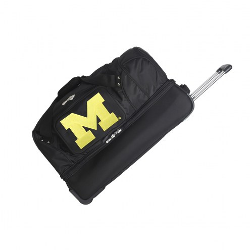 "Michigan Wolverines 27"" Drop Bottom Wheeled Duffle Bag"