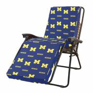Michigan Wolverines 3 Piece Chaise Lounge Chair Cushion