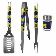 Michigan Wolverines 3 Piece Tailgater BBQ Set and Season Shaker