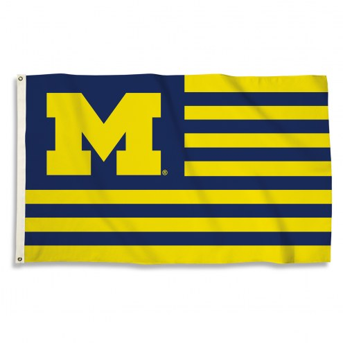 Michigan Wolverines 3' x 5' Stripes Flag