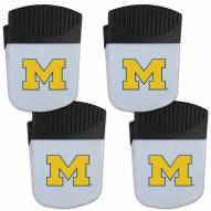 Michigan Wolverines 4 Pack Chip Clip Magnet with Bottle Opener