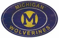 "Michigan Wolverines 46"" Heritage Logo Oval Sign"