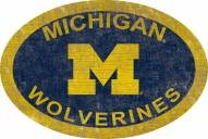 "Michigan Wolverines 46"" Team Color Oval Sign"