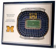 Michigan Wolverines 5-Layer StadiumViews 3D Wall Art