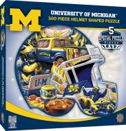 Michigan Wolverines 500 Piece Helmet Shaped Puzzle