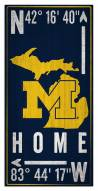 "Michigan Wolverines 6"" x 12"" Coordinates Sign"