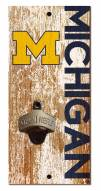 "Michigan Wolverines 6"" x 12"" Distressed Bottle Opener"