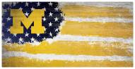 "Michigan Wolverines 6"" x 12"" Flag Sign"