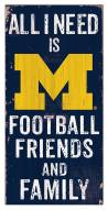 "Michigan Wolverines 6"" x 12"" Friends & Family Sign"