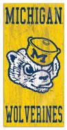 "Michigan Wolverines 6"" x 12"" Heritage Logo Sign"