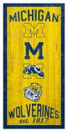 "Michigan Wolverines 6"" x 12"" Heritage Sign"