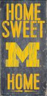 "Michigan Wolverines 6"" x 12"" Home Sweet Home Sign"
