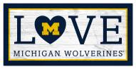 "Michigan Wolverines 6"" x 12"" Love Sign"