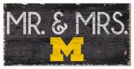 "Michigan Wolverines 6"" x 12"" Mr. & Mrs. Sign"
