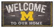 "Michigan Wolverines 6"" x 12"" Welcome Sign"