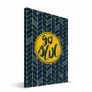 "Michigan Wolverines 8"" x 12"" Geometric Canvas Print"