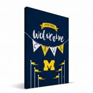 "Michigan Wolverines 8"" x 12"" Little Man Canvas Print"