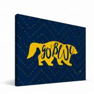 "Michigan Wolverines 8"" x 12"" Mascot Canvas Print"