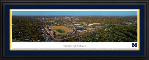 Michigan Wolverines Aerial Deluxe Framed Panorama