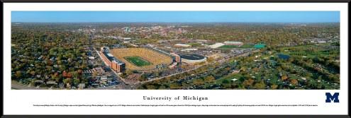 Michigan Wolverines Aerial Standard Framed Panorama