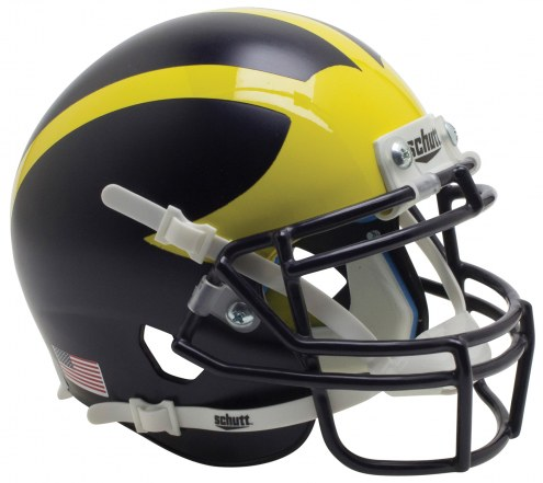 Michigan Wolverines Alternate 3 Schutt Mini Football Helmet