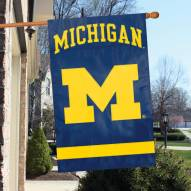 Michigan Wolverines Applique Banner Flag