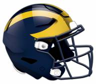 Michigan Wolverines Authentic Helmet Cutout Sign