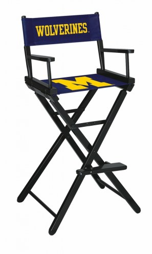 Michigan Wolverines Bar Height Director's Chair