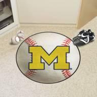 Michigan Wolverines Baseball Rug