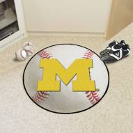 Michigan Wolverines Baseball Rug