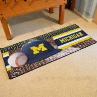 Michigan Wolverines Baseball Runner Rug