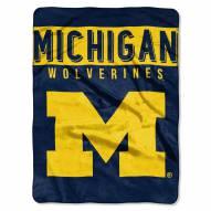 Michigan Wolverines Basic Raschel Blanket