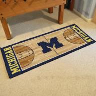 Michigan Wolverines Basketball Court Runner Rug