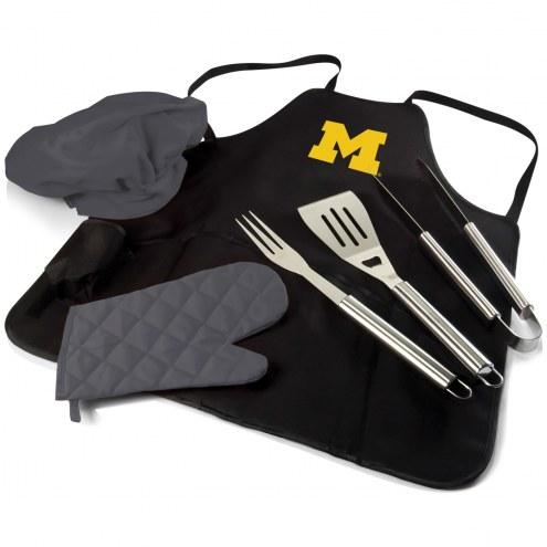 Michigan Wolverines BBQ Apron Tote Set