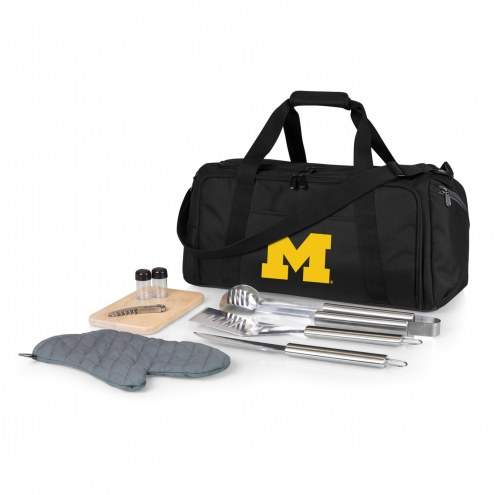 Michigan Wolverines BBQ Kit Cooler