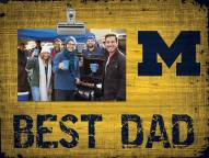 Michigan Wolverines Best Dad Clip Frame