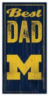 Michigan Wolverines Best Dad Sign