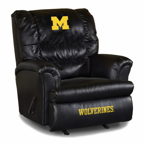 Michigan Wolverines Big Daddy Leather Recliner