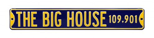 Michigan Wolverines 'Big House' NCAA Embossed Street Sign