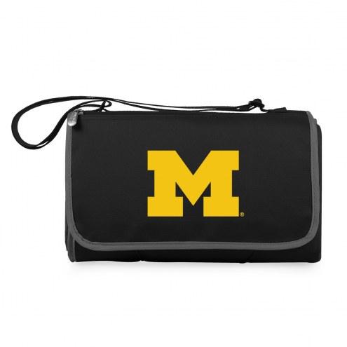 Michigan Wolverines Black Blanket Tote