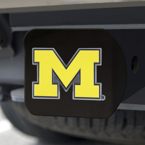 Michigan Wolverines Black Color Hitch Cover