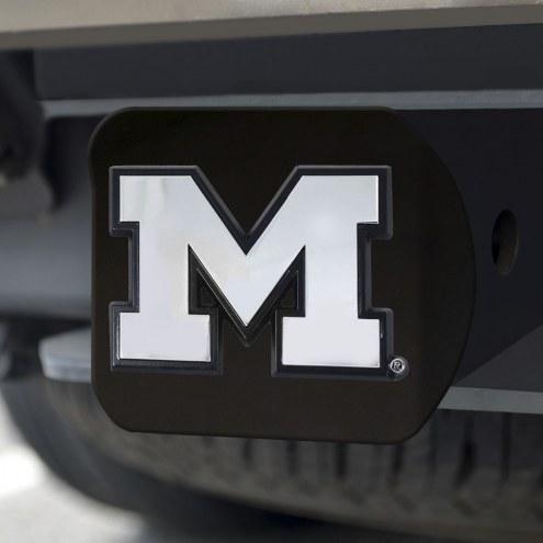 Michigan Wolverines Black Matte Hitch Cover