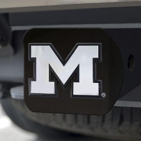 Michigan Wolverines Black Matte Hitch Cover