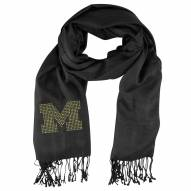 Michigan Wolverines Black Pashi Fan Scarf