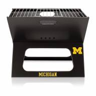 Michigan Wolverines Black Portable Charcoal X-Grill
